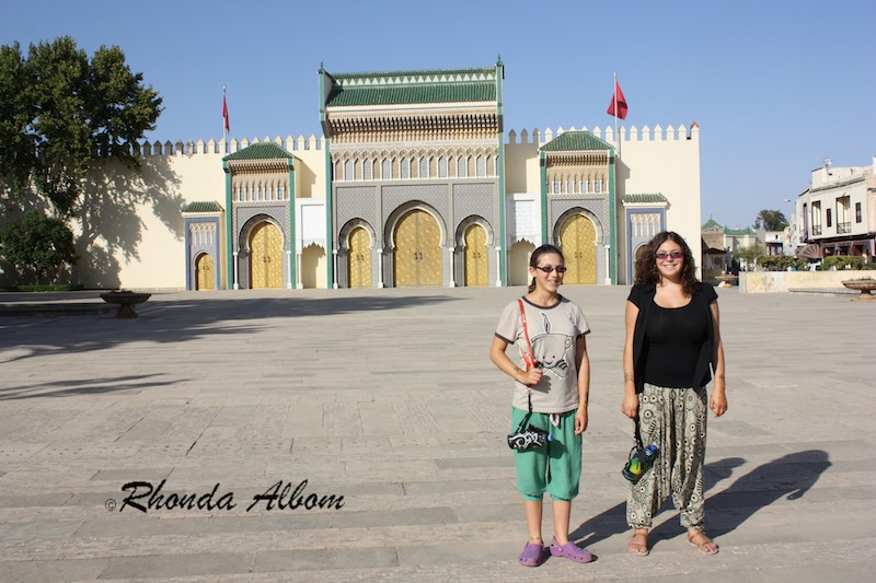 The gates outside the Royal Palace in Fes, Morocco