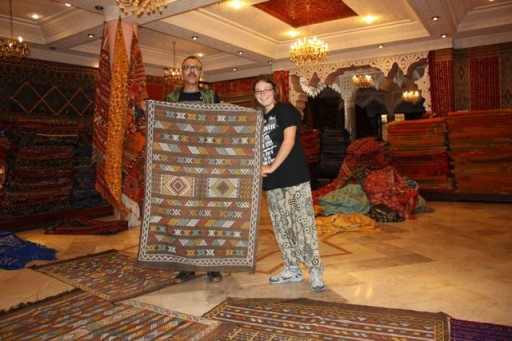 I bought a carpet in Morocco