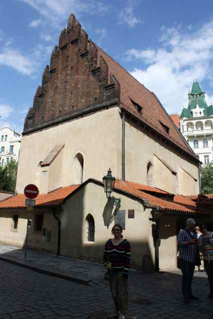 The Old New Synagogue in the Prague Jewish Quarter