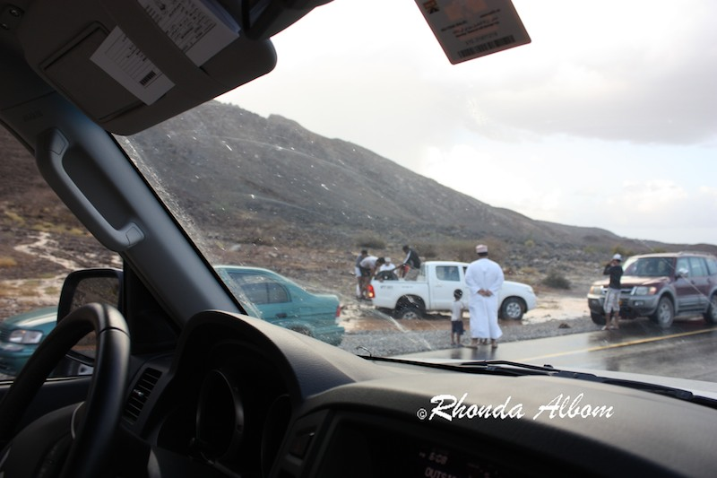 Recreational opportunities are seen by locals in the Desert Floods in Oman