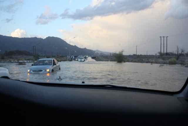Wadi rain storm in Oman