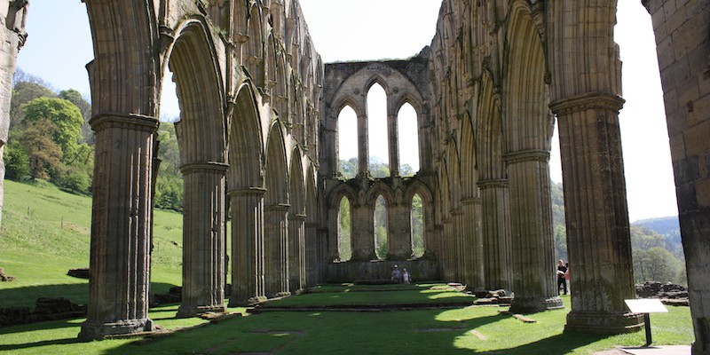 Rievaulx Abbey in North Yorkshire, England