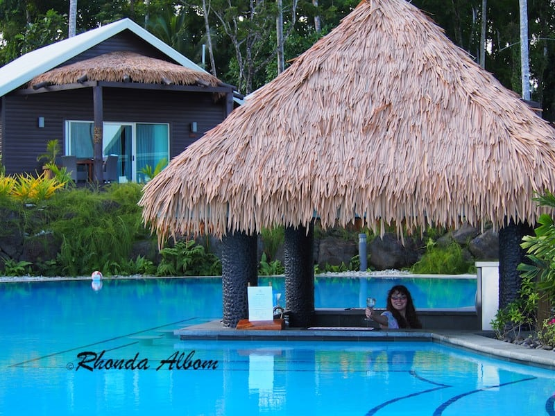 Pool bar at Saletoga Sands Resort in Samoa