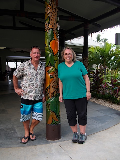 Gavin Brightwell, one of the owners of Saletoga Sands Resort in Samoa (and me)