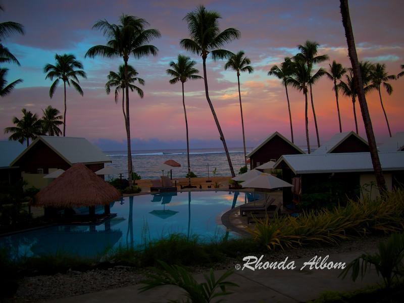 Sunrise in Samoa at Saletoga Sands Resort