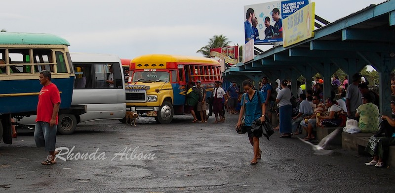 Bus Station in Apia, the capital city of Samoa