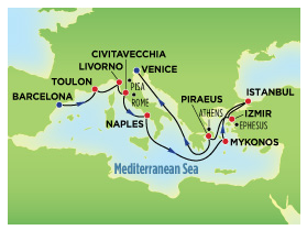 cruise map