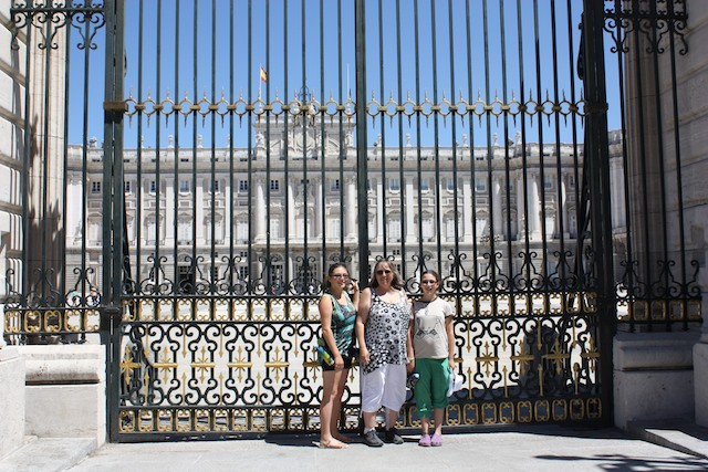 Gate in front of the Royal Palace in Madrid, Spain