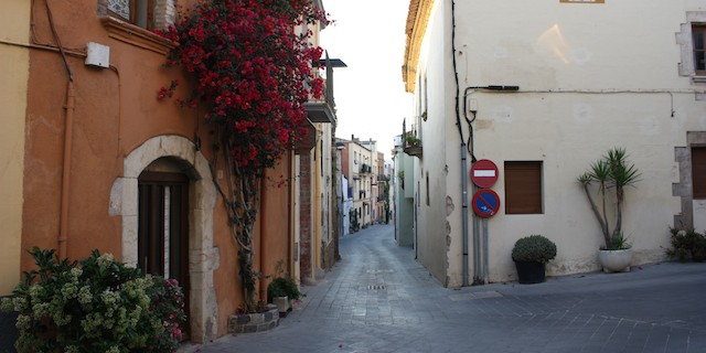 A street in Palamos Spain