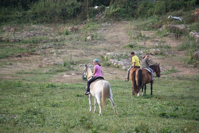 Horse riding in the Hills of Santillana Del Mar, Spain