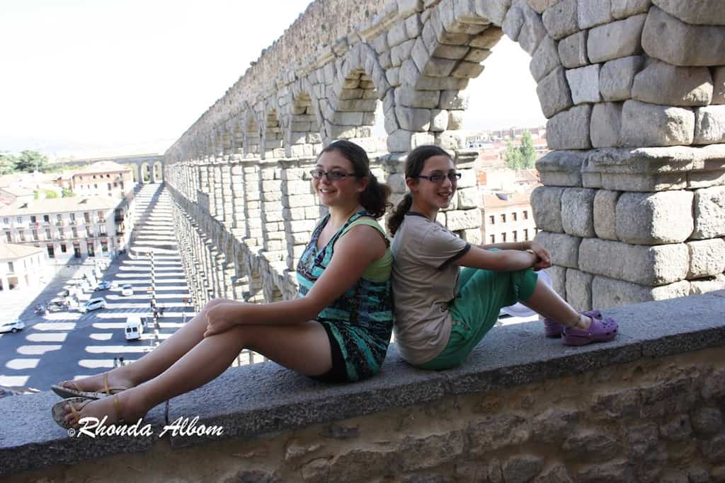 Overlooking the Aqueduct in Segovia Spain, and the interesting shadows it makes in late afternoon.