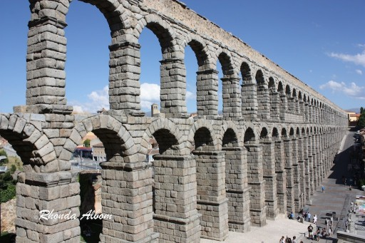 Aqueduct of Segovia Spain is 16,220 meters in length and 28 meters tall