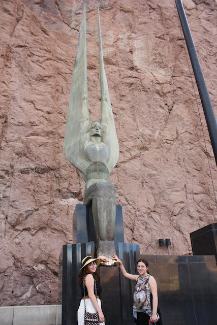 Interesting statue at the tourist area of Hoover Dam