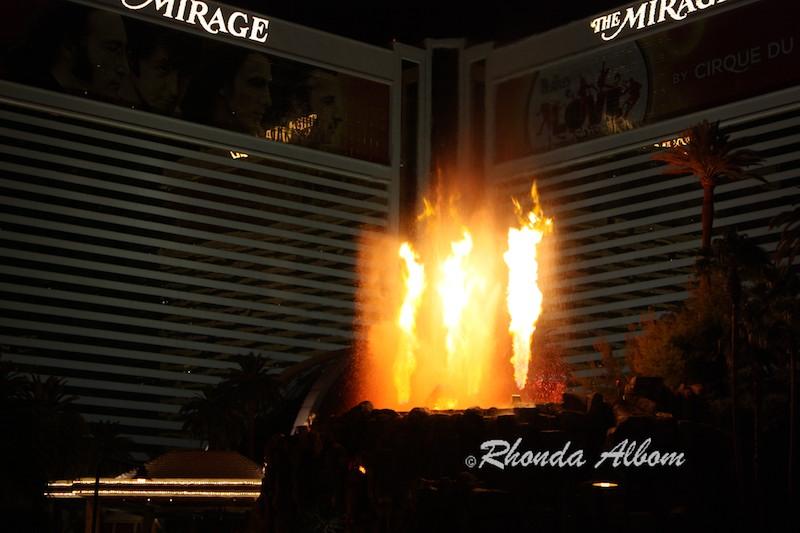 Volcano at Mirage Hotel in Las Vegas Nevada, USA