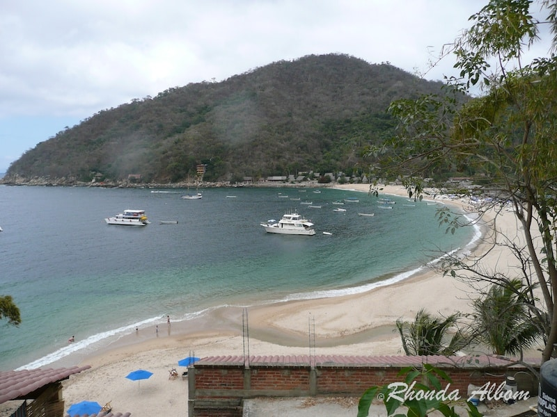 Overlooking Yelapa beach