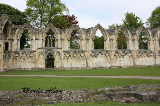 The ruins of St Mary's Abbey in York, England