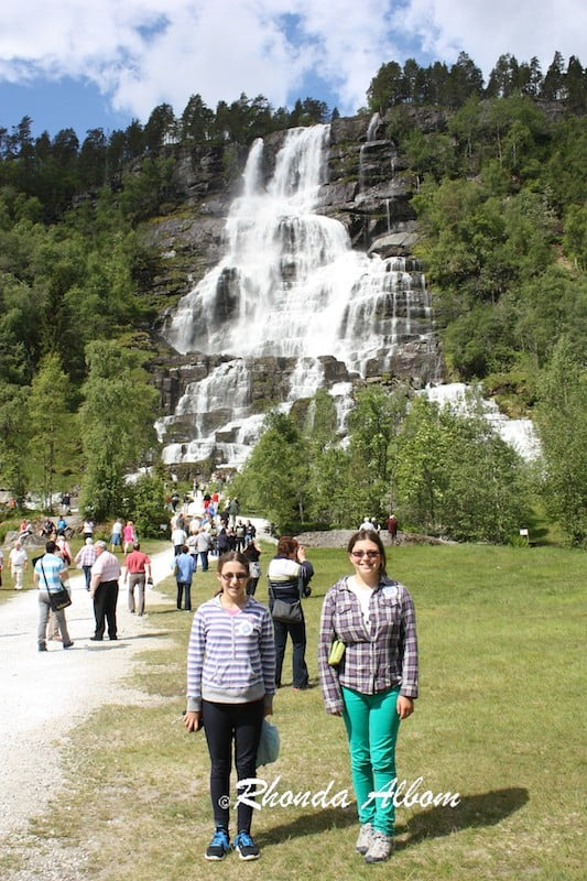 Tvindefossen Falls, the Fountain of Youth, near Voss Norway