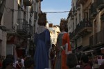 Parade of Giants at the Fiesta Major In Palamós, Spain