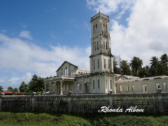 Church damaged by Cyclone Evan