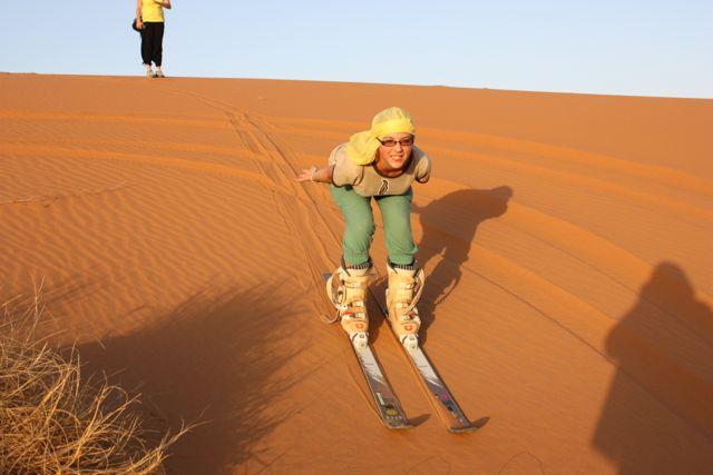 morroco desert skiing