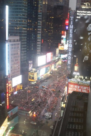 Times Square view from our hotel room